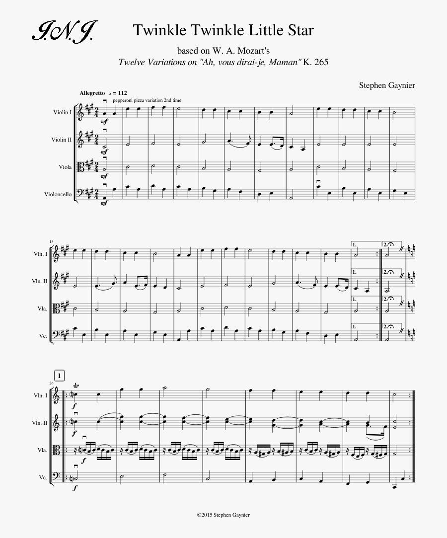 Twinkle Twinkle Little Star Sheet Music Composed By - Something About Us Daft Punk Sheet, Transparent Clipart