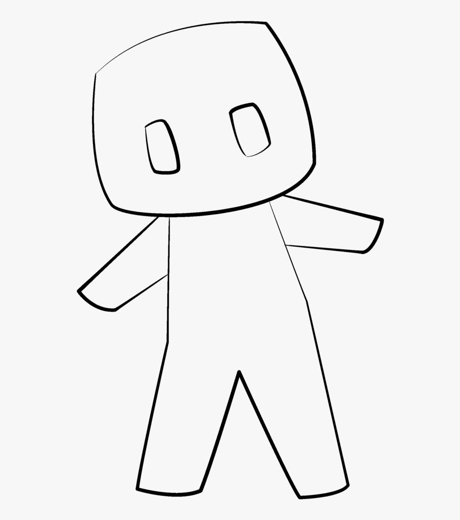 Pickle Clipart Minecraft - Chibi Base Minecraft, Transparent Clipart