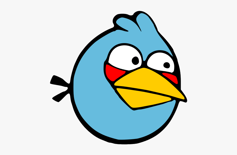Blue Color Angry Bird, Transparent Clipart