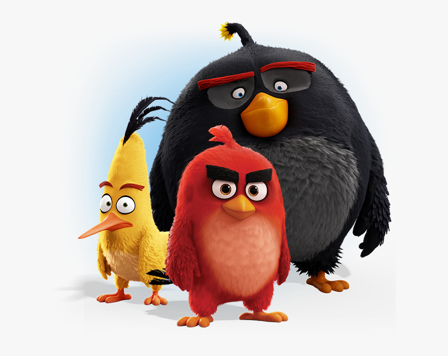 Angry Birds Png - Angry Birds Movie Red Chuck And Bomb, Transparent Clipart