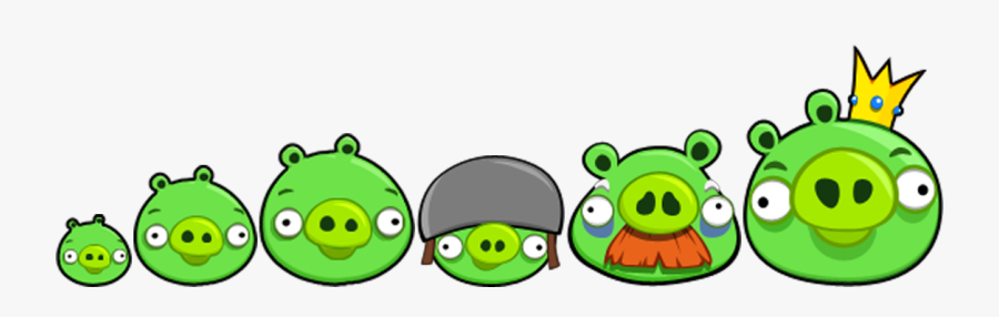 Angry Birds Pig Family, Transparent Clipart