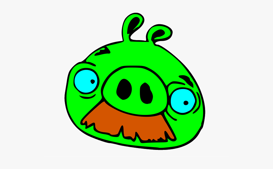 Mustache Pig Angry Birds, Transparent Clipart