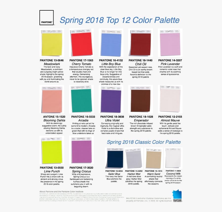Clip Art Modern Color Palette - Color Palette Spring 2018, Transparent Clipart