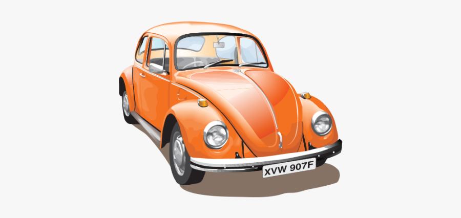 Vw Beetle Car Vector Illustration Free Download - Volkswagen Beetle Vector Free, Transparent Clipart