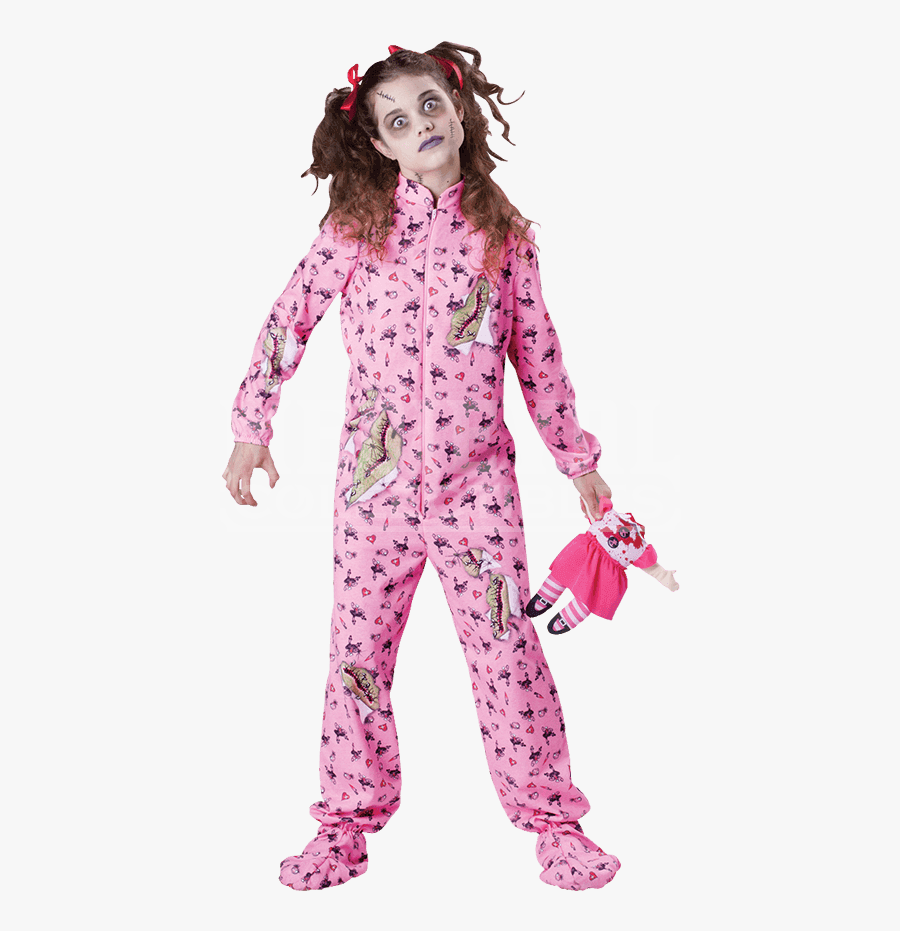Transparent Zombie Girl Clipart , Scary Halloween Costume