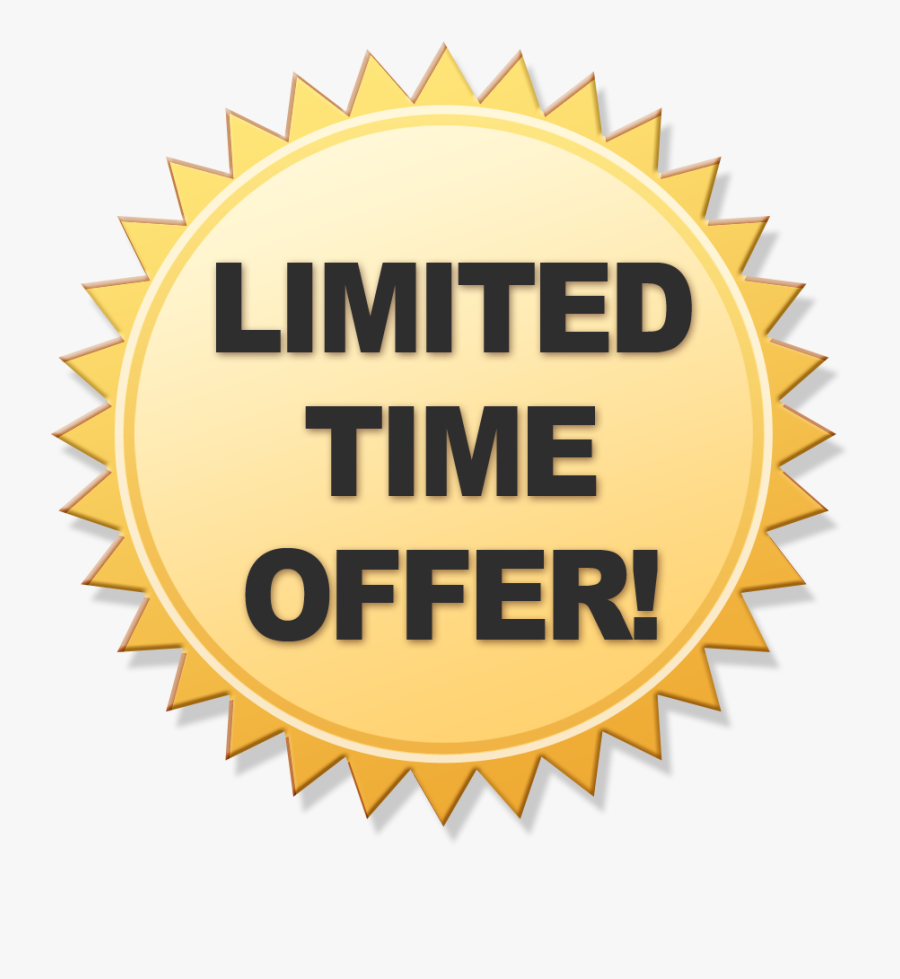 Limited Offer Png Transparent - Limited Time Only Png, Transparent Clipart