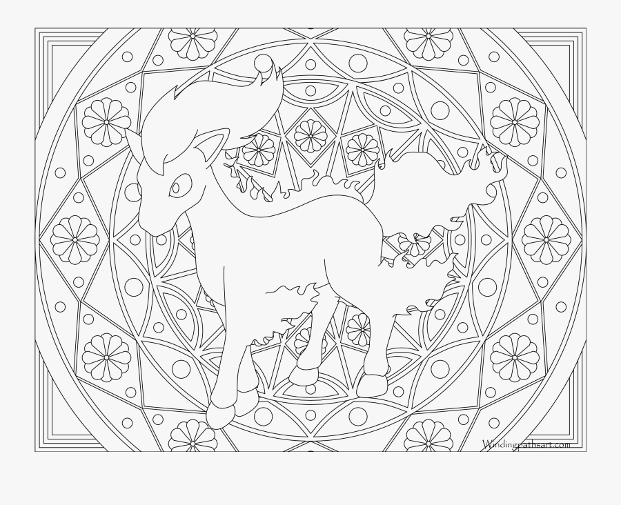 Ponyta Coloring Page Pokemon Dragonair Coloring Pages Free Transparent Clipart Clipartkey
