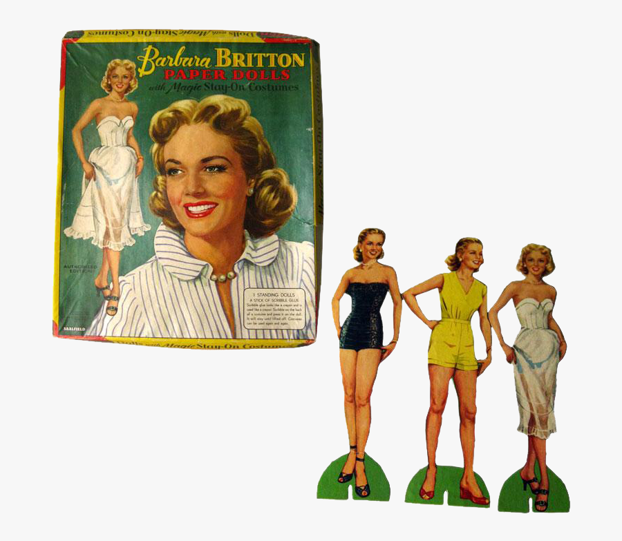 Barbara Britton Paper Dolls By Saafield - Retro Style, Transparent Clipart