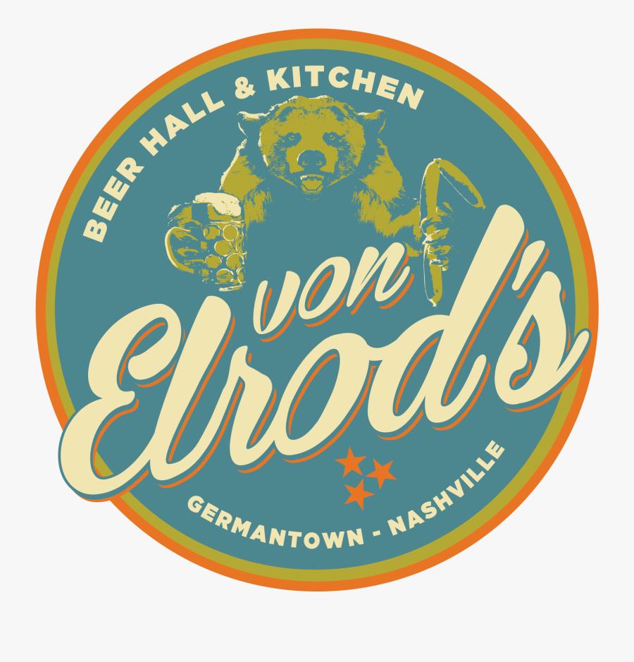 Von Elrod's Beer Hall & Kitchen - Von Elrod's Beer Hall & Kitchen, Transparent Clipart