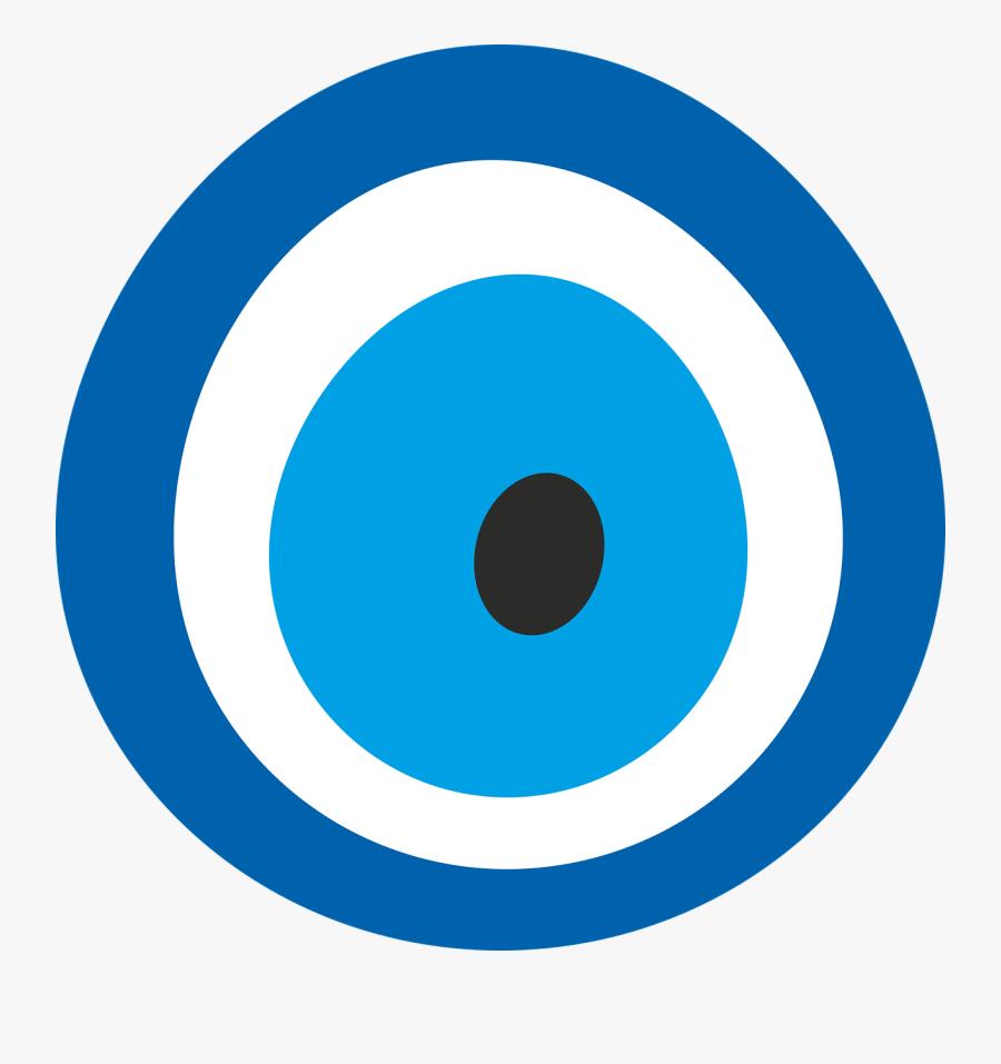 Blue Evil Eye Png, Transparent Clipart