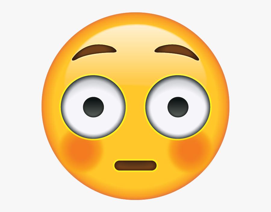 Transparent Emoji Clipart - Flushed Face Emoji Png , Free ...