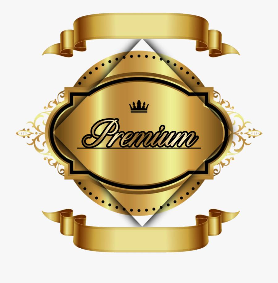 #premium #prêmio #vip #gold #golden #ouro #dourado - Golden Banner Vector Png, Transparent Clipart