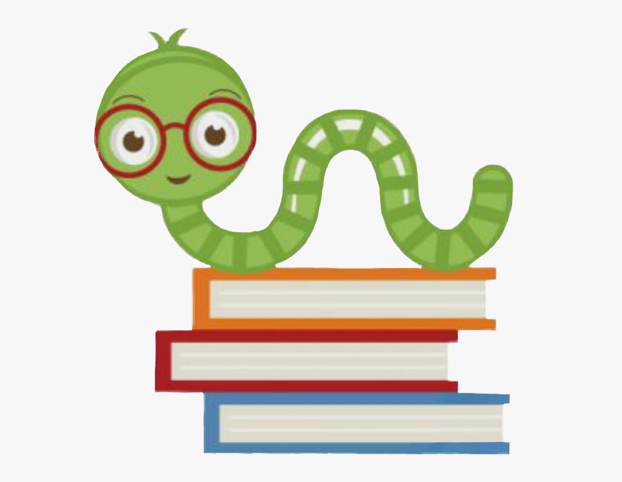 #bookworm #books #worm #school - Teacher Cute School Clipart, Transparent Clipart
