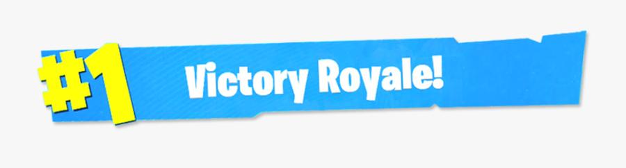 Clip Art 1 Victory Royale Transparent - Transparent Victory Royale Fortnite Png, Transparent Clipart