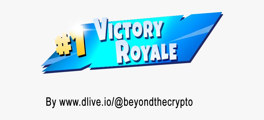 Clip Art 1 Victory Royale Transparent - Fortnite Victory Royale Png, Transparent Clipart