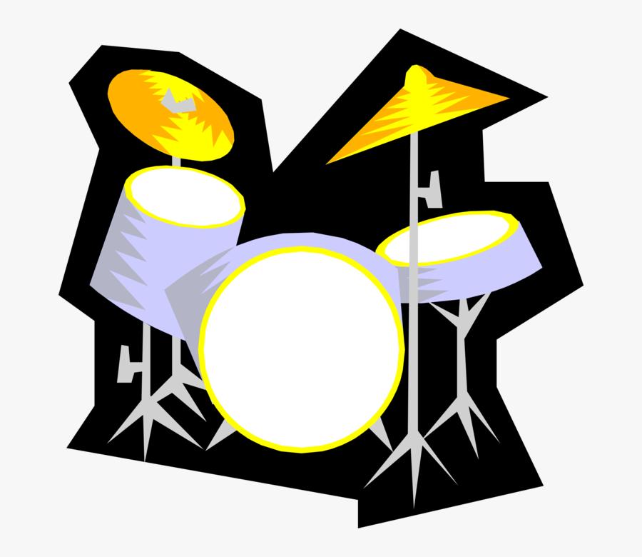 Vector Illustration Of Drum Set Or Drum Kit Percussion - Hep Alien, Transparent Clipart