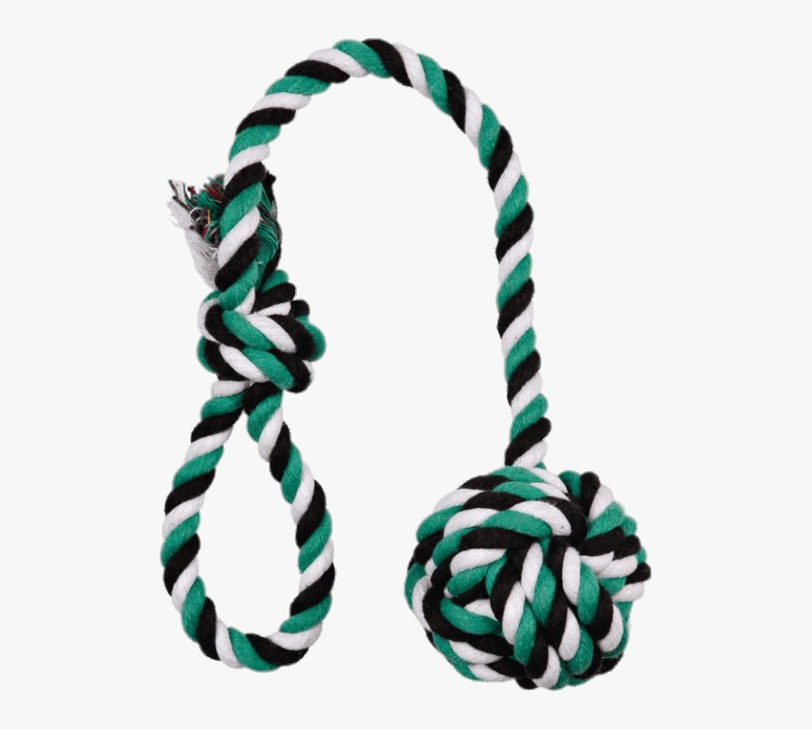 Playing Rope For Dogs - Transparent Background Dog Toy Clipart, Transparent Clipart