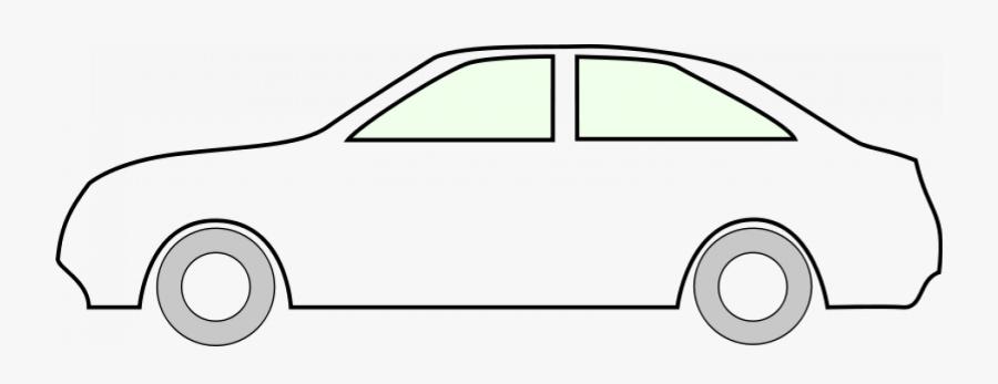 Clip Art Car Outline Clipart - Simple Car Drawing Outline, Transparent Clipart