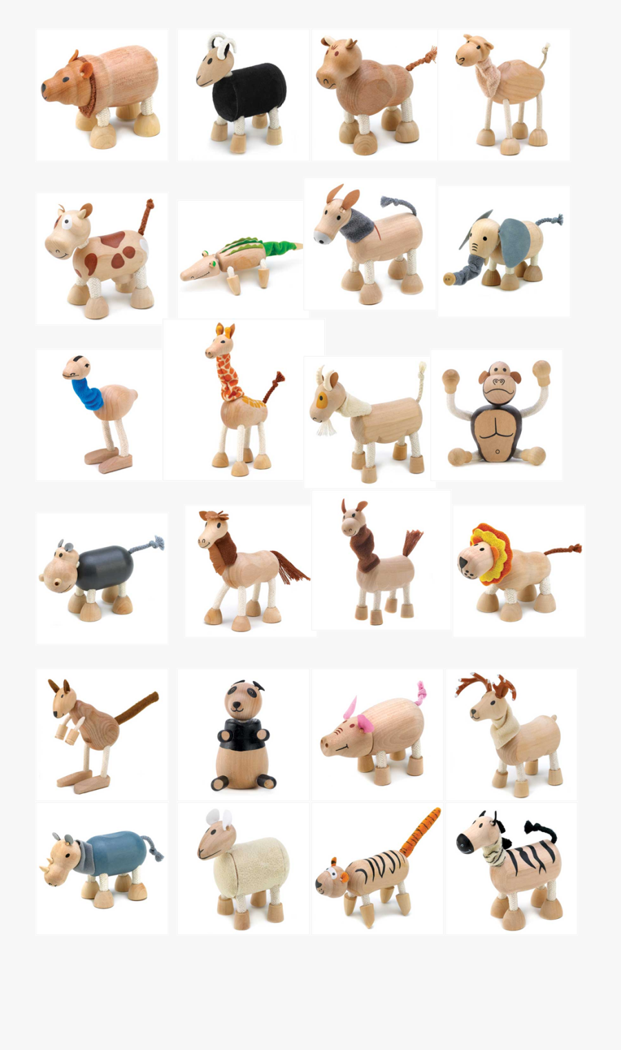 Clipart Toys Wooden Toy - Animal Figure, Transparent Clipart