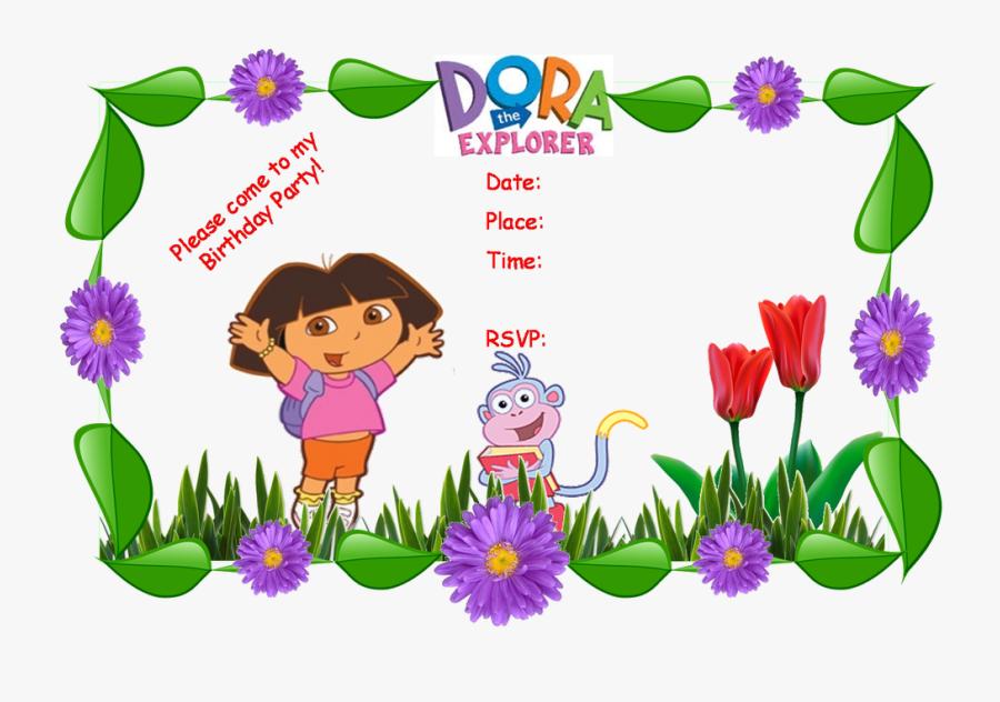 Dora Party Invitation Templates Clipart Png Download Dora Birthday Invitation Cards Free Transparent Clipart Clipartkey,Trendy Restaurant Bar Design Ideas