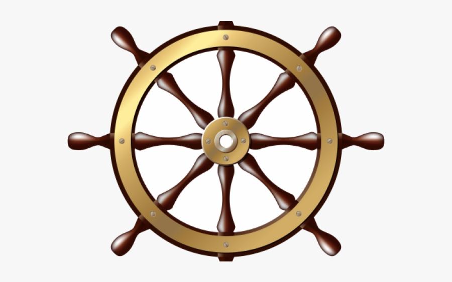 Ship Wheel Ships Clipart Transparent Png - Ship Steering Wheel Transparent Background, Transparent Clipart