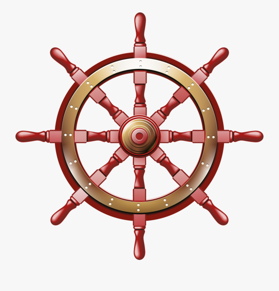 Sail Ship Steering Wheel Png, Transparent Clipart