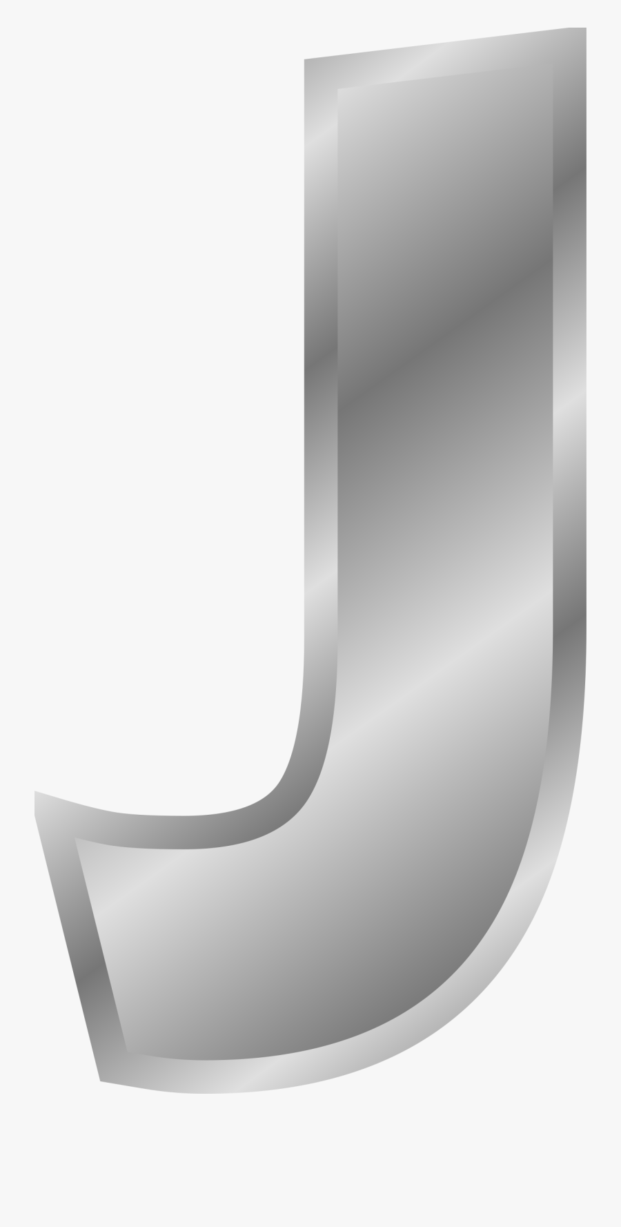 Letter J Png, Download Png Image With Transparent Background, - Alphabet J In Silver, Transparent Clipart