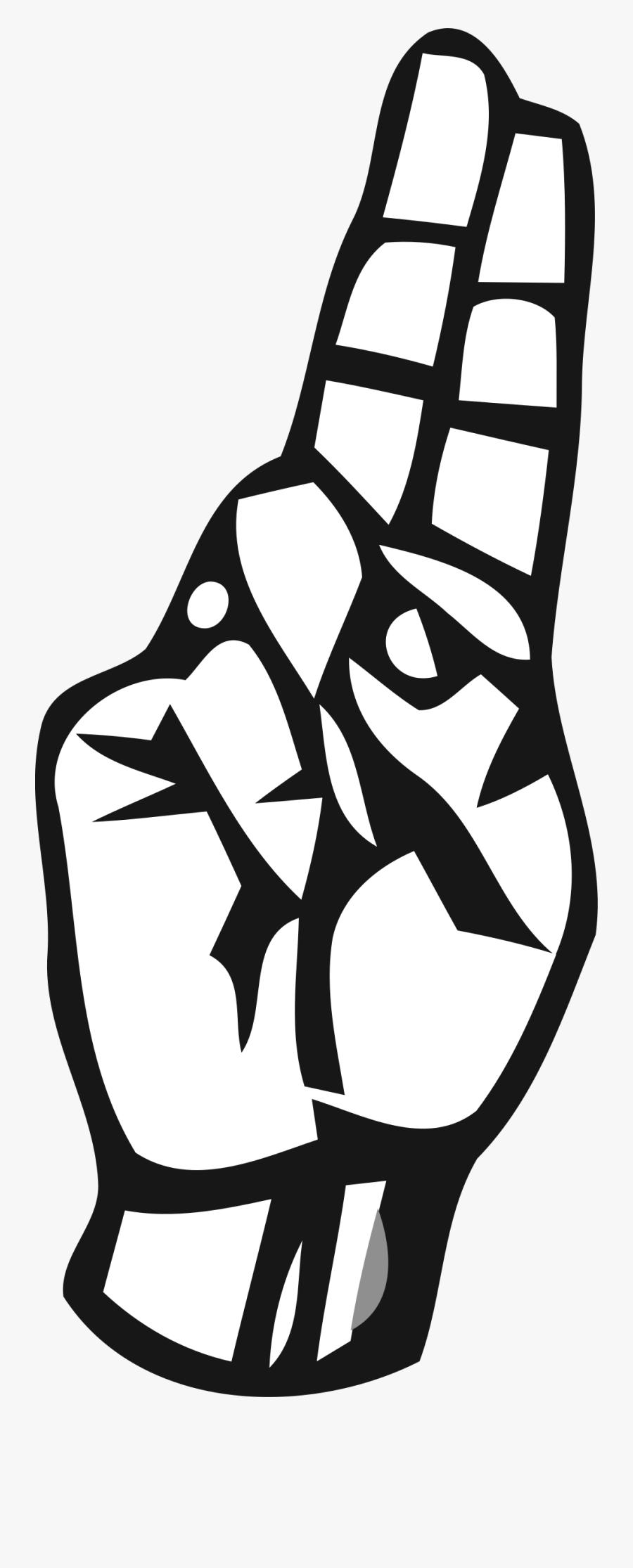 Book Clipart Vector Alphabet - Letter U In Sign Language Hand, Transparent Clipart