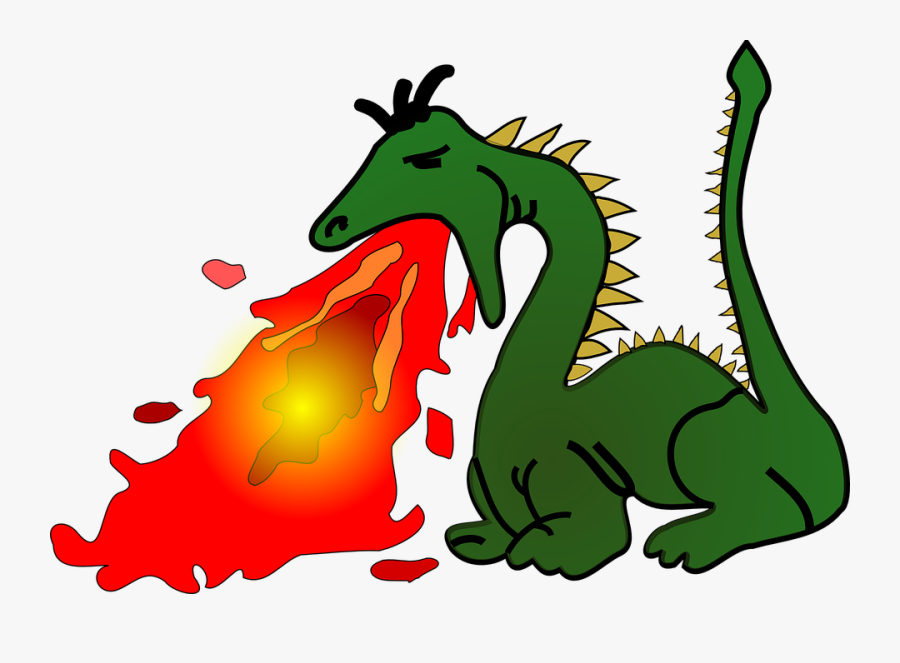 Artwork,dragon,fictional Character - Dragon Blowing Fire Cartoon, Transparent Clipart