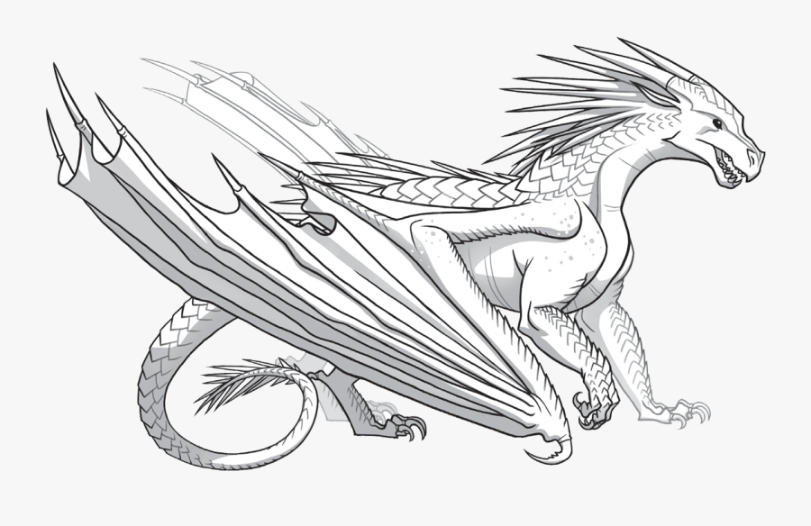 Clip Art Dragon Breathing Fire Drawing - Icewing Wings Of Fire, Transparent Clipart