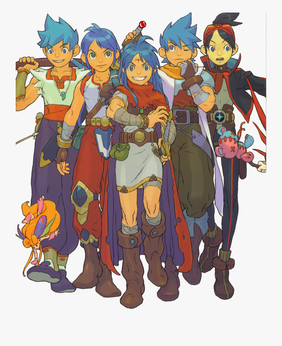 A Swordsman Who Can Turn Into A Dragon Marvel Needs - Breath Of Fire Artbook, Transparent Clipart
