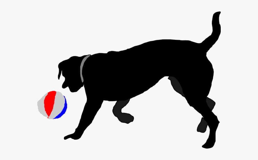 Dog Toy Cliparts - Dog Chasing Ball Clipart, Transparent Clipart