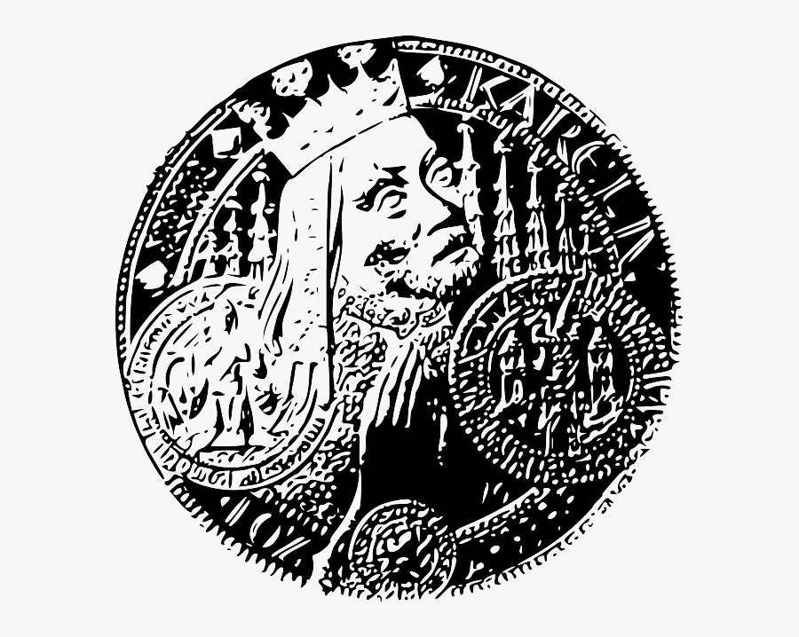 Czech, King, Signs, Symbols, Money, Gold, Karl, Crown - Clip Art, Transparent Clipart