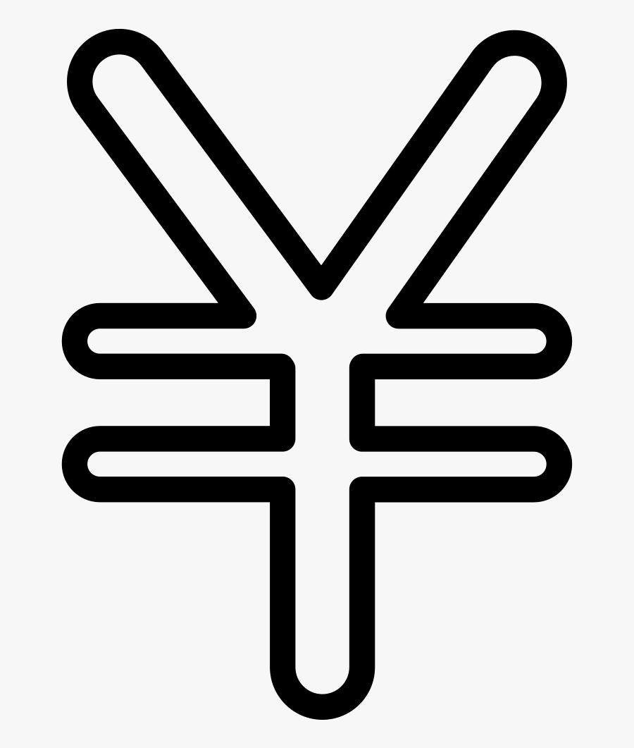 Yen Currency Symbol, Transparent Clipart