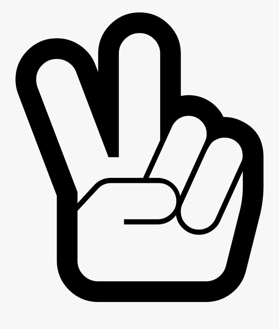 O Png Icon - Hand Peace Gesture Png, Transparent Clipart