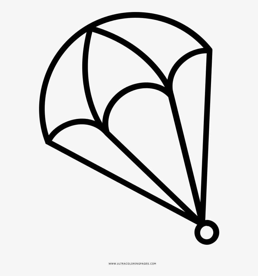 Parachute Clipart Colouring Page Mewarnai Gambar Terjun
