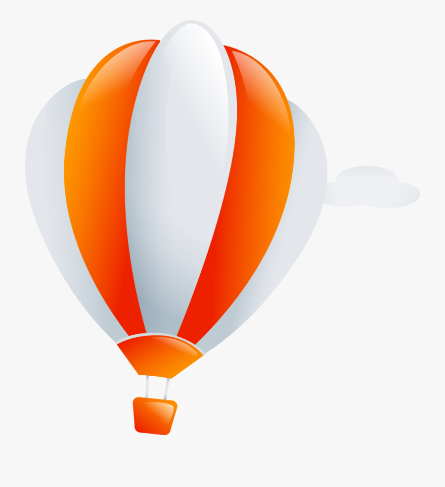 Balloon - Cartoon Picture Of Parachute, Transparent Clipart
