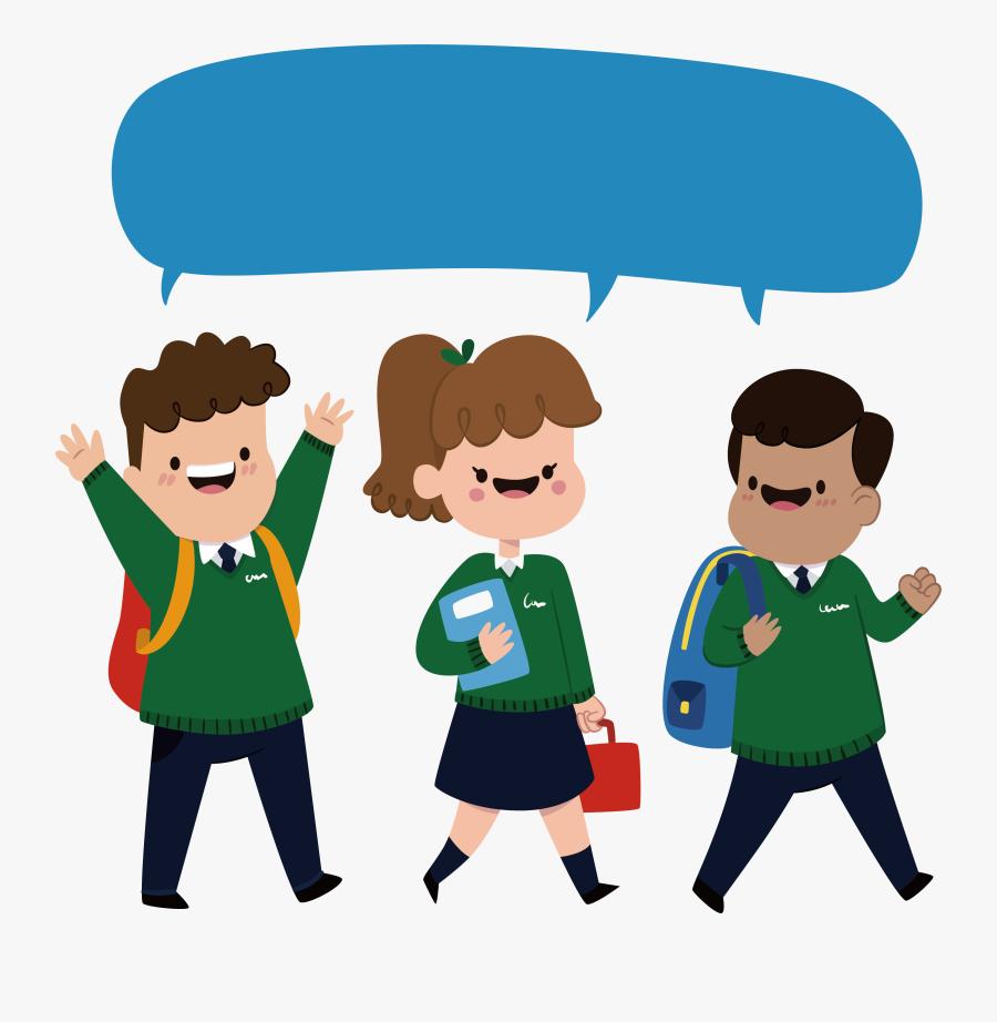 School Uniforms Clipart - Three Students Clipart Png, Transparent Clipart