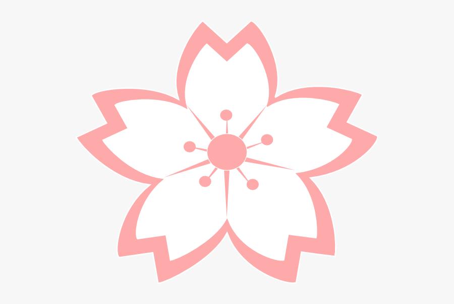 Cherry Blossom Vector, Japanese Party, Flower Clipart, - Sakura Flower Vector, Transparent Clipart