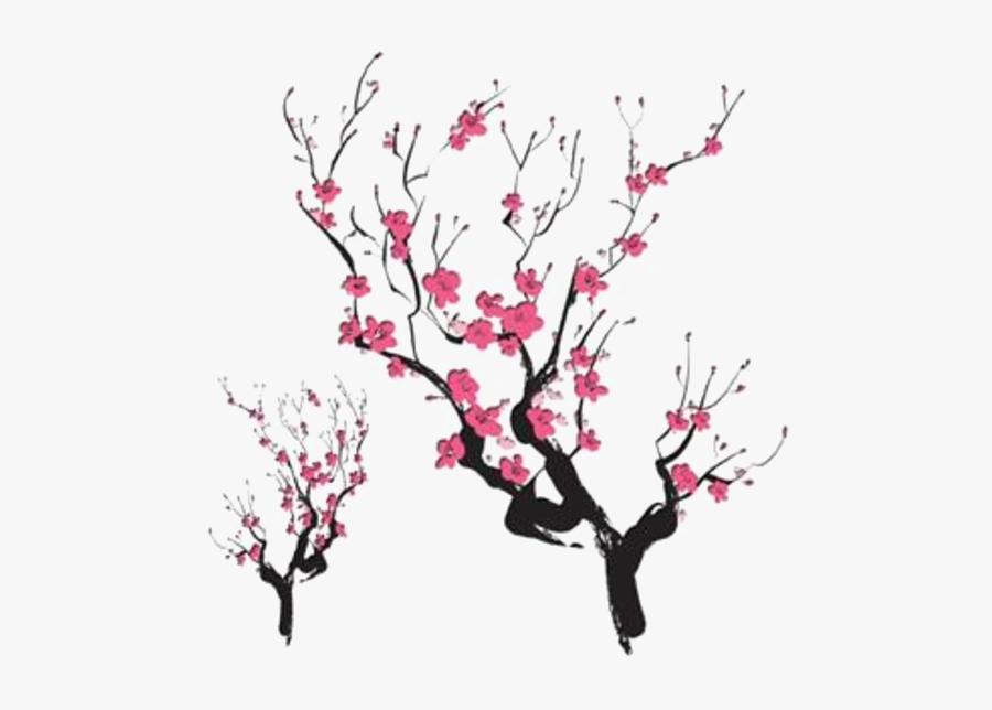 Tribal Cherry Blossom Tattoo, Transparent Clipart