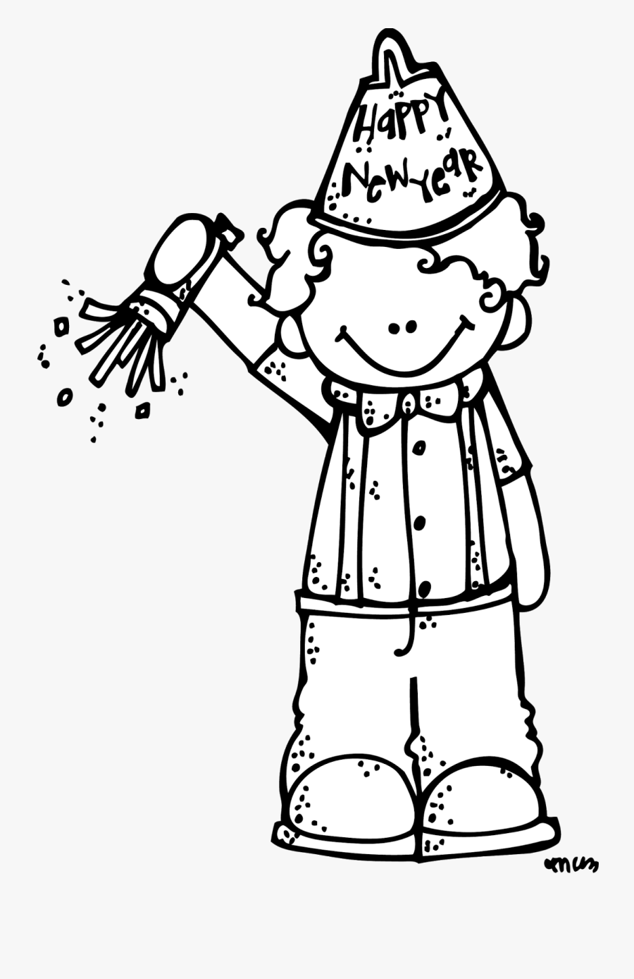 Transparent New Year Clipart Black And White - New Year Interview For Kids, Transparent Clipart