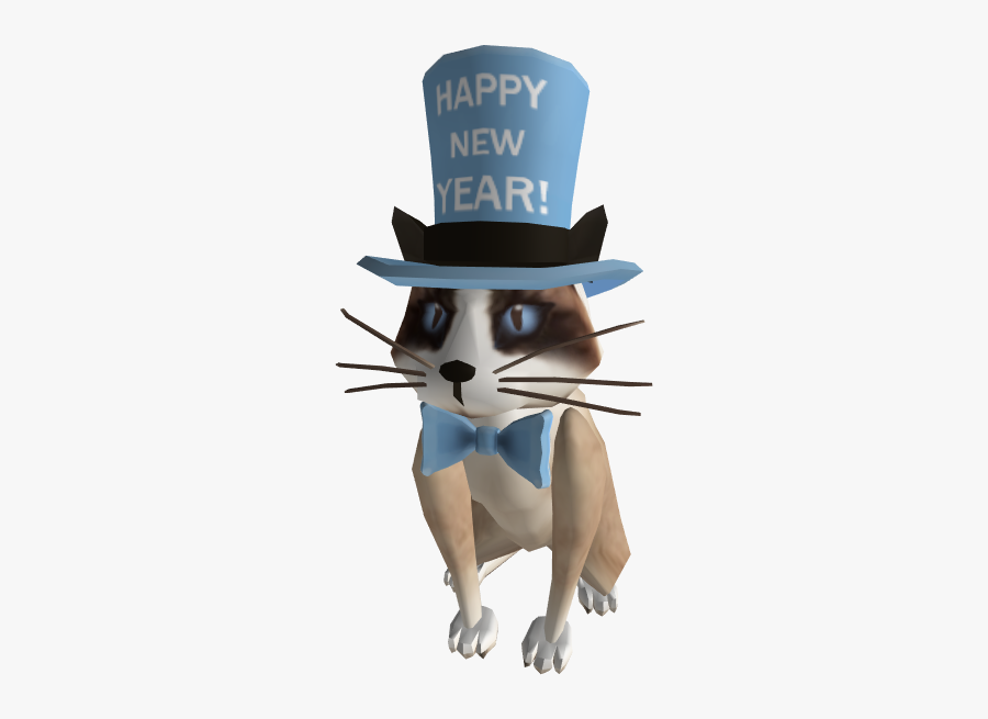 New Years Kitty - New Years Kitty Roblox, Transparent Clipart
