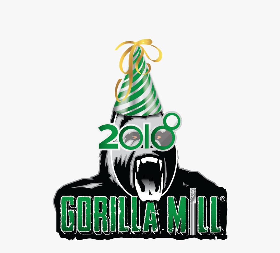Gorilla Mill Happy New Year - Gorilla Mill, Transparent Clipart