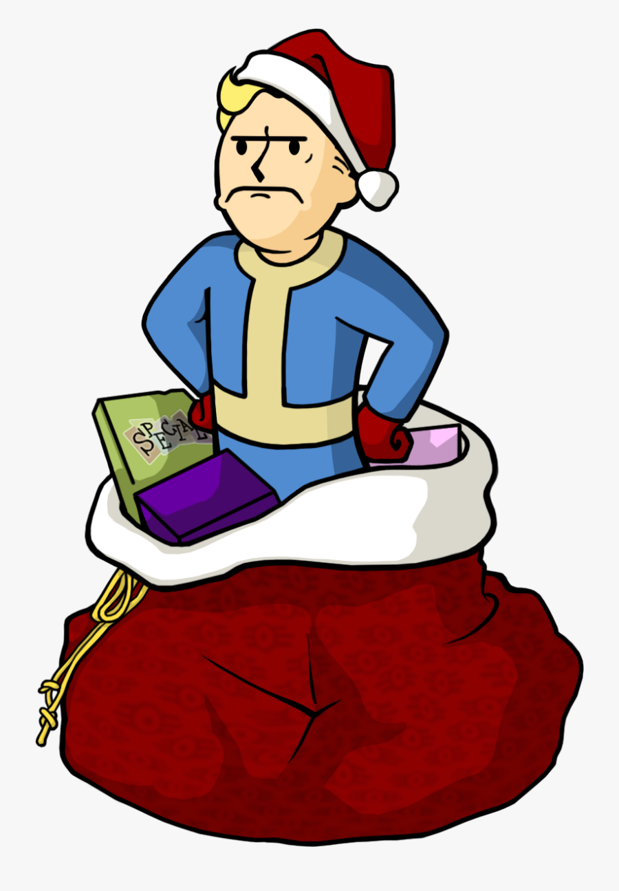 Transparent New Years Hat Png - Fallout Vault Boy Christmas, Transparent Clipart