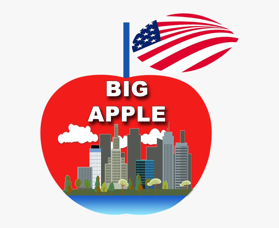 Apple, New York Ny, Manhattan - City Skyline Clip Art, Transparent Clipart