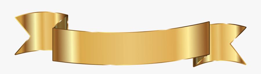 Gold Ribbon Png Free, Transparent Clipart