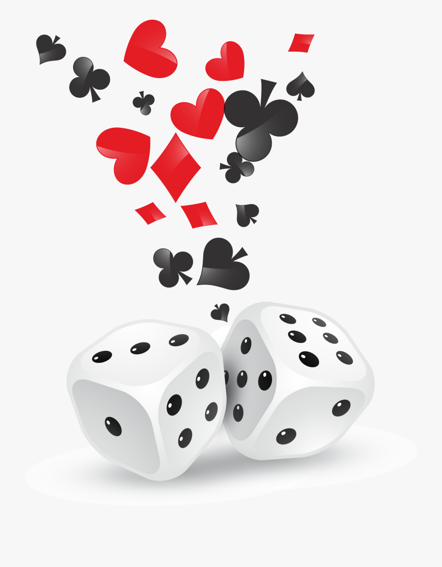 Transparent Dice Png - Dices And Cards Png, Transparent Clipart
