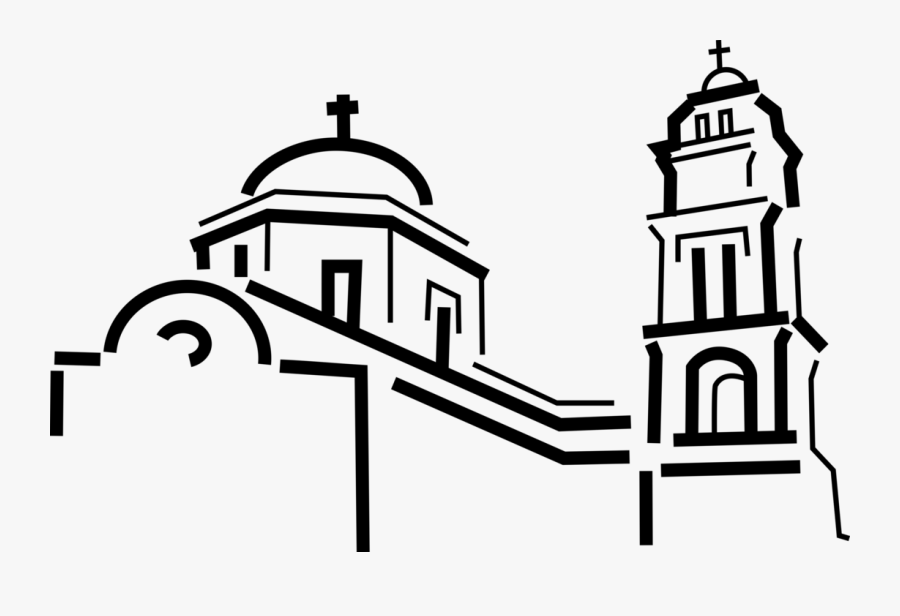 Clipart Church Cathedral - Bell Tower Vector, Transparent Clipart