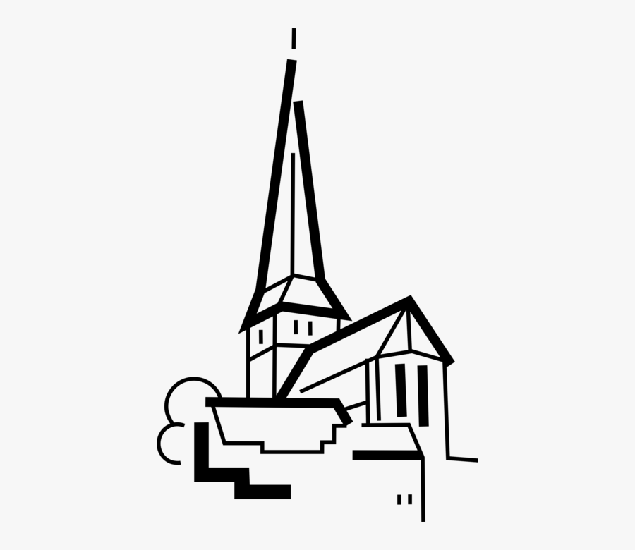 Clip Art Christian Cathedral Spire Image, Transparent Clipart