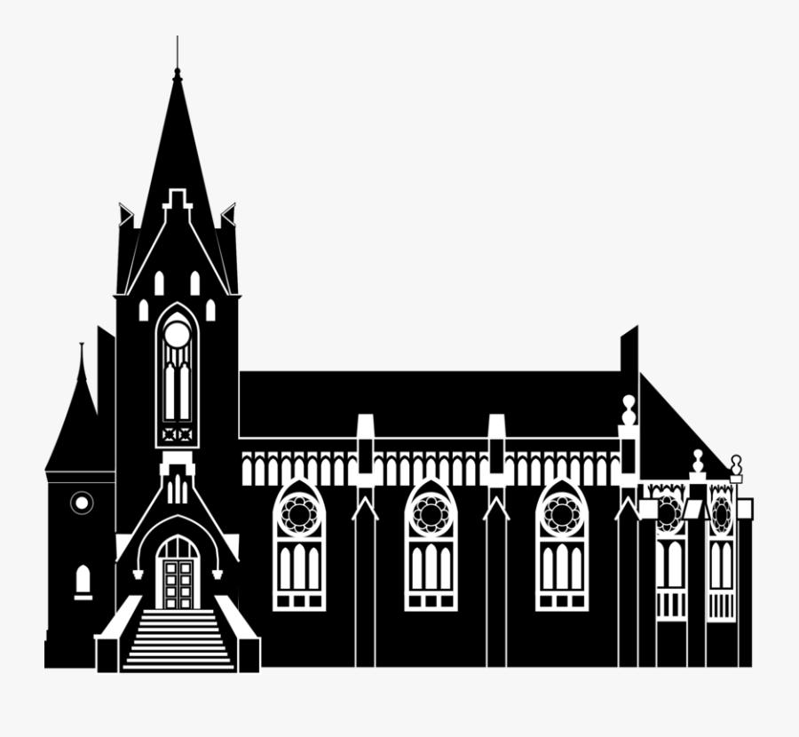 Building,medieval Architecture,monochrome Photography - Vladivostok Png, Transparent Clipart